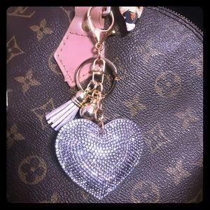 Bling heart Keychain